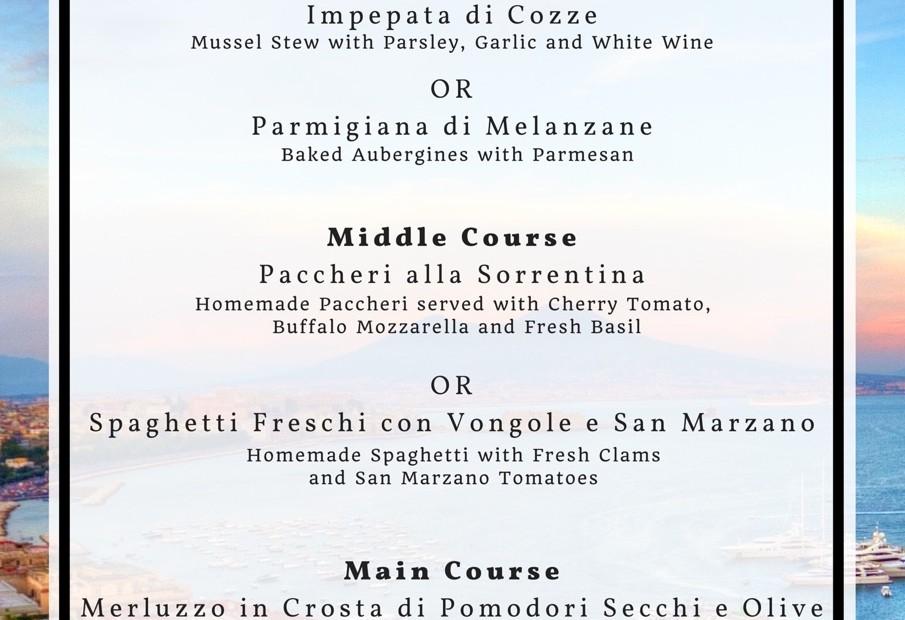 Menus of Italy