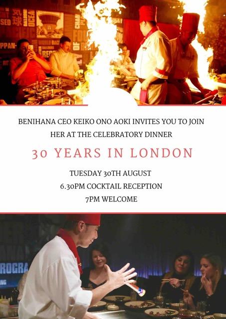 Benihana 30 Years